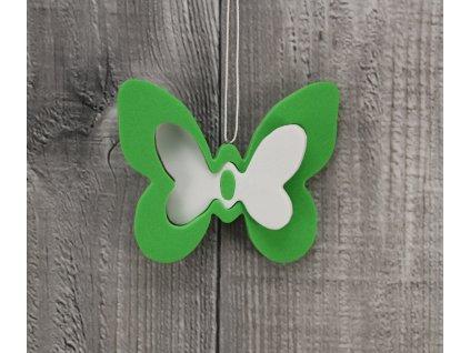 Motýl pěna zelený sada 2ks