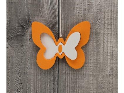 Motýl pěna oranžový sada 2ks