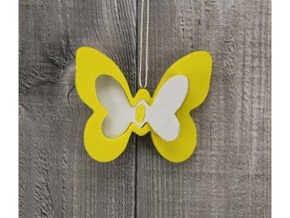 Motýl pěna žlutý sada 2ks