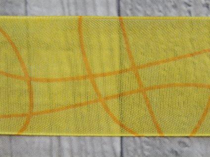 Stuha 40mm vlnka/žlutá