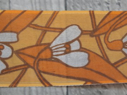 Stuha 40mm sněženka/oranžová