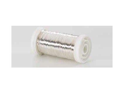 Drátek hladký stříbrná 0,3mm