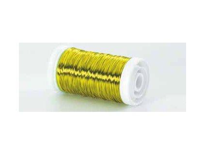 Drátek hladký žlutý 0,3mm