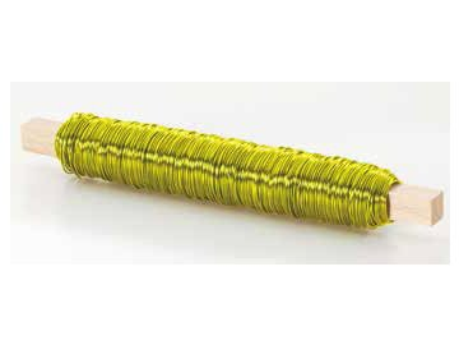 Drátek rovný 0,5mm žlutá 23
