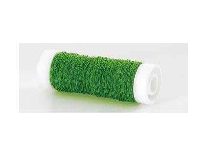 Drátek vlnitý 0,3mm neon zelená 33
