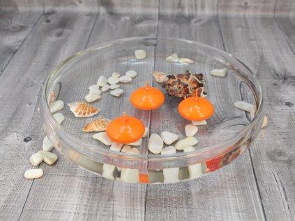 Svíčka plovoucí lakovaná oranžová