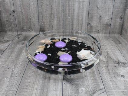 Svíčka plovoucí lakovaná sv.fialová