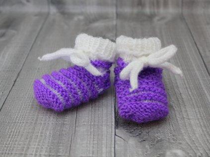 Bačkůrky mimi dvoubarevné fialové tmavé