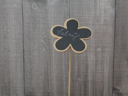 Tabulka dřevěná květ