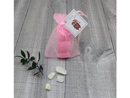 Mini mýdlo sova 3D růžová 30g