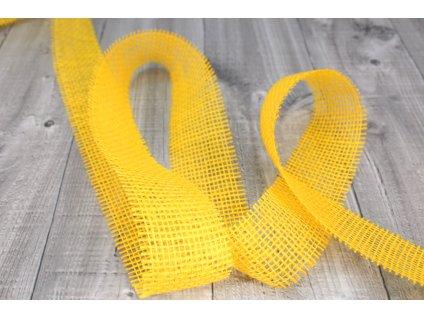 Stuha juta 25m žlutá