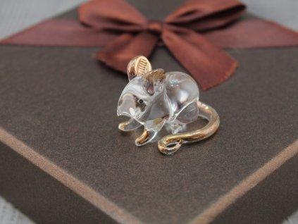 Miniatura skleněná myšička