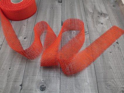 Stuha juta 25m oranžová