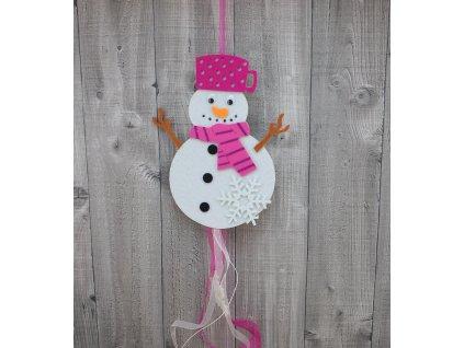 Sněhulák s hrncem malinový
