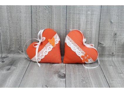 Srdce závěsné oranžové