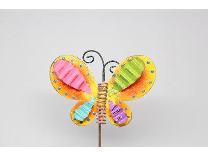 Motýl plechový zápich