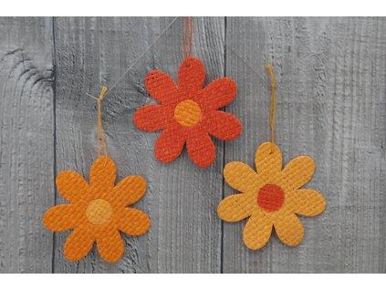 Květ papyrus mini oranžový