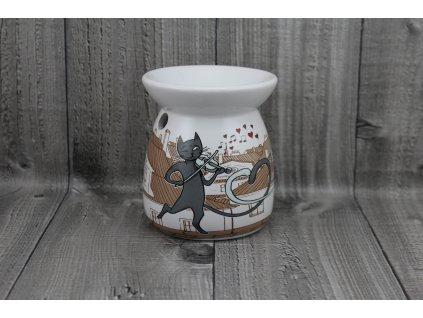 Aromalampa porcelánová-kočky