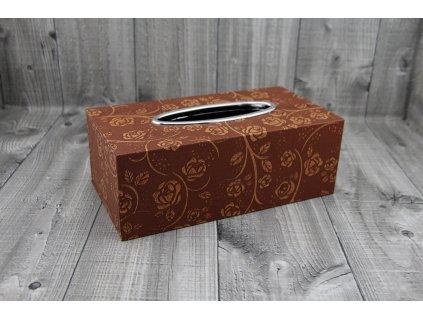 Krabice na kapesníky-měď růžičky