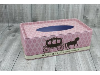 Krabice na kapesníky-starorůžová