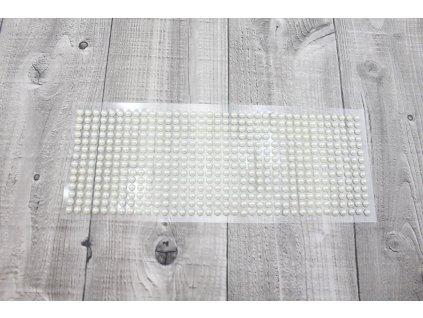 Perličky nalepovací 6mm-krémová