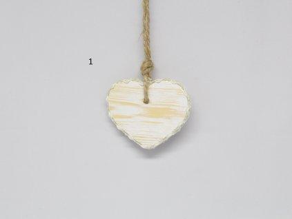 Srdíčko dřevěné malé