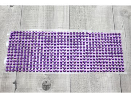 Perličky nalepovací 6mm-fialová tmavá
