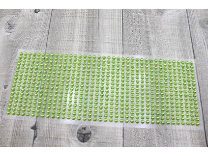 Perličky nalepovací 5mm-zelená
