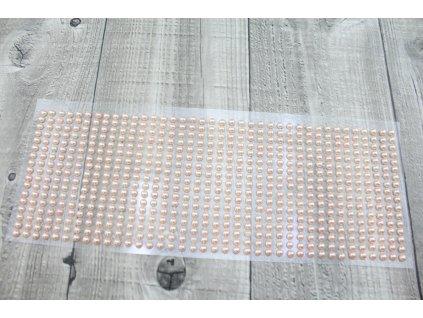 Perličky nalepovací 5mm-meruňková
