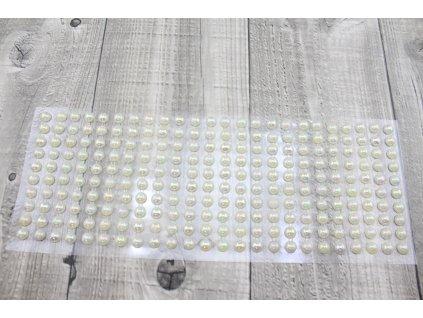 Perličky nalepovací 8mm-perleťová