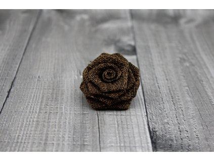 Růžička juta-tmavě hnědá