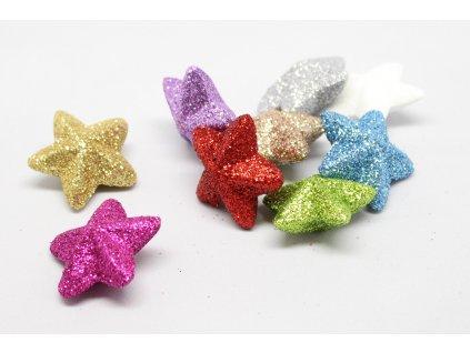 Hvězdička malá glitrová 3D
