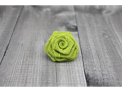 Růžička juta-světle zelená