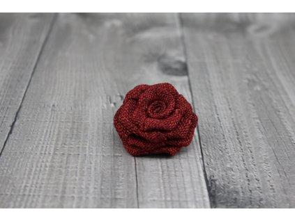Růžička juta-bordo