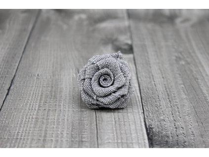 Růžička juta-světle šedá