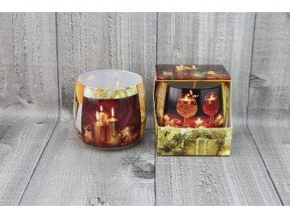 Svíčka ve skle vánoční