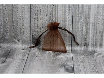 Sáček šifon-hnědý