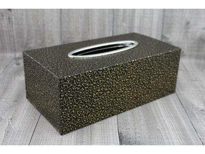 Krabice na kapesníky-černozlatá