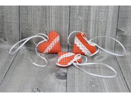 Srdíčko mini závěsné-oranžové