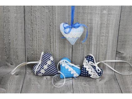 Srdíčko mini závěsné-modré