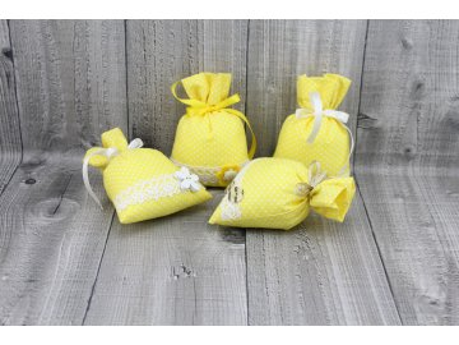 Sáčky dekorační žluté