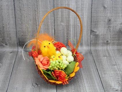 Oválný košíček s kuřátky