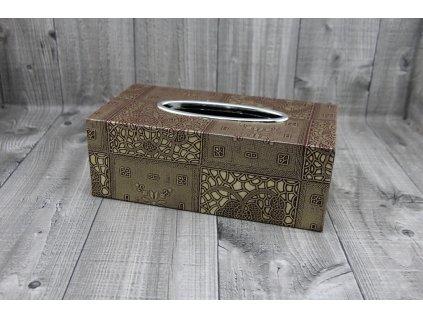 Krabice na kapesníky-měďnatá