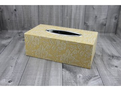 Krabice na kapesníky-smetanovězlatá