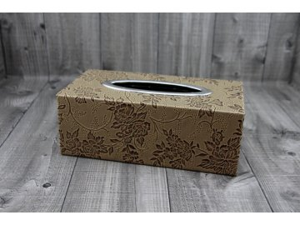 Krabice na kapesníky-světle hnědá