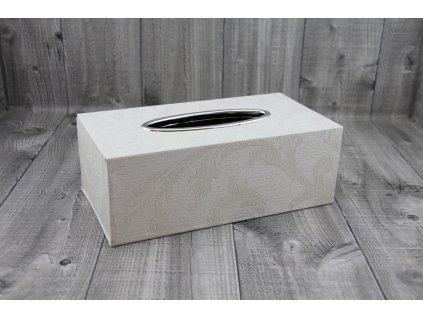 Krabice na kapesníky-bílá káva