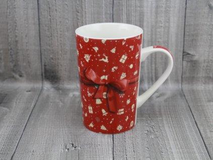 Hrnek porcelánový vánoční 0,44l červený