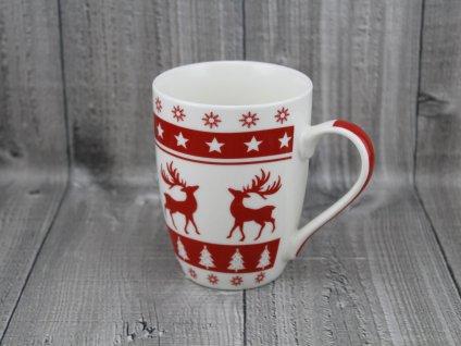 Hrnek porcelán 0,34l vánoční vzor