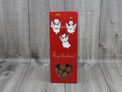 Mandle v čokoládě vánoční červená