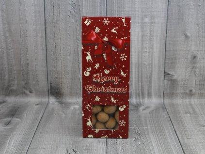 Mandle v čokoládě vánoční s mašlí